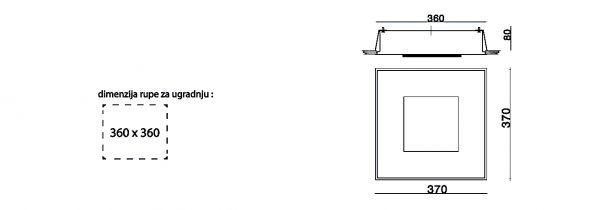 HANA-U-BOX stropna ugradbena rasvjeta 2